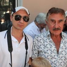 С Леонидом Каневским на открытии памятной доски Штепселю