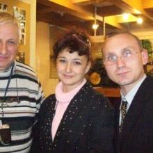 Клуб одесситов. С редактором А. А. Таубеншлаком и Ритой Колобовой