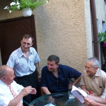 С академиком В.Р.Файтельберг-Бланком  и другими историками